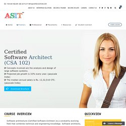 Certified Software Architect ( CSA 102 ) – ASIT EDUCATION