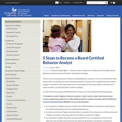 5 Steps to Become a Board Certified Behavior Analyst - CEHD