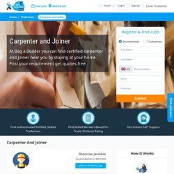 Find Certified Carpenter and Joiner Near Me