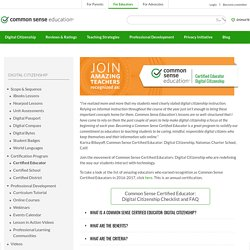 Common Sense Digital Citizenship: Certified Educator