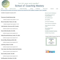 Certified Competent Coaches