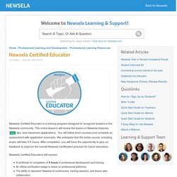 Newsela Certified Educator – Newsela
