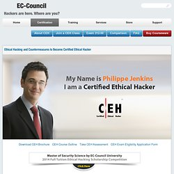 CEH: Certified Ethical Hacking course from EC-Council