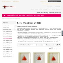Certified Coral Moonga Gemstone Triangular shape for necklace jewelery
