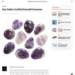 Buy Online Certified Emerald Gemstone – Verified-pixel