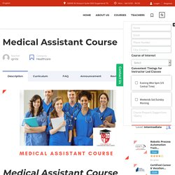 Quik Certified Medical Assistant Courses Near Me.