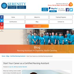 Start Your Career as a Certified Nursing Assistant