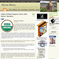 USDA Certified Organic's Dirty Little Secret: Neotame