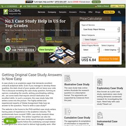 #1 Case Study Help in USA by PhD-Certified Writers