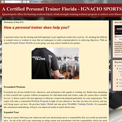 How a personal trainer does help you?