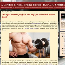 The right workout program can help you to achieve fitness goals