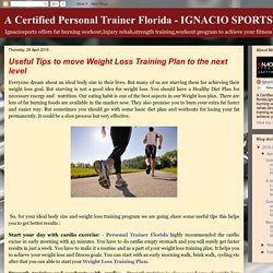 Useful Tips to move Weight Loss Training Plan to the next level