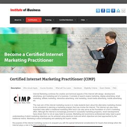 Certified Internet Marketing Practitioner (CIMP)