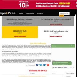 Free 300-209 Dumps VCE Download for Cisco CCNP Security Cisco Certified Network Professional Security