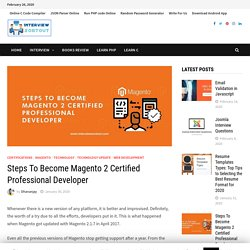 Steps To Become Magento 2 Certified Professional Developer