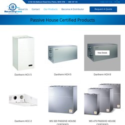 Passive House Certified Products