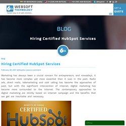 Hiring Certified Hubspot Services