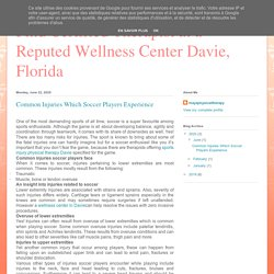 Find Certified Therapist at a Reputed Wellness Center Davie, Florida : Common Injuries Which Soccer Players Experience