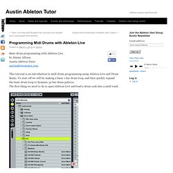 Austin Ableton Certified TrainingAustin Ableton Tutor