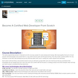 Become A Certified Web Developer From Scratch: vernonemrit