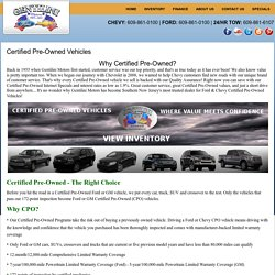 Certified Pre Owned Cars NJ