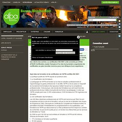 Sept sites de l'AFPA certifiés ISO 9001 - Espace Presse // AFPA Basse-Normandie