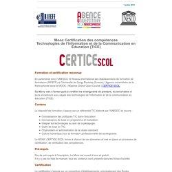 Certifiez vos compétences TICE en milieu scolaire - Mooc Certice Scol de l'AUF