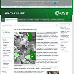 Observing the Earth - Certifying organic crops from space