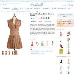 Under Cerulean Skies Dress in Wheat | Mod Retro Vintage Dresses