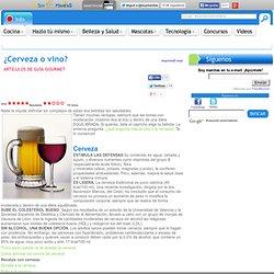 ¿Cerveza o vino?