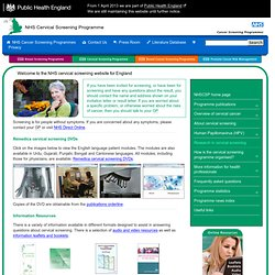 Cervical Screening Programme (NHSCSP)