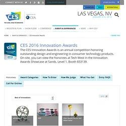 CES Innovation Awards - CES 2016