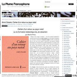 Aimé Césaire, Cahier d'un retour au pays natal