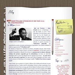 Aimé Césaire s'indigne et dit non à la colonisation ! - mot à mot