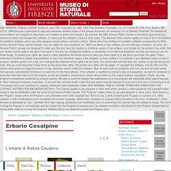 Erbario Cesalpino - Museo di Storia Naturale - Università di Firenze