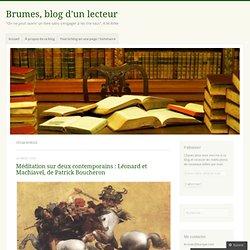 Brumes, blog d'un lecteur
