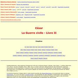 César - Guerre civile - livre II