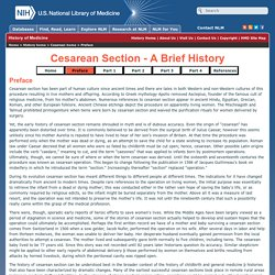 Cesarean Section - A Brief History preface