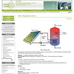 CESI - Régulation solaire - STI2D