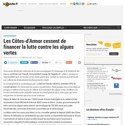 Les Côtes-d'Armor cessent de financer la lutte contre les algues