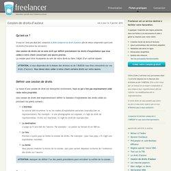 Cession de droits d'auteur - Freelancer