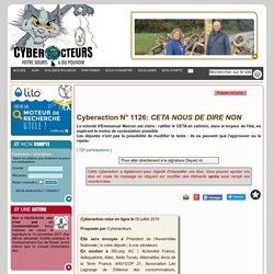 CETA NOUS DE DIRE NON cyberaction