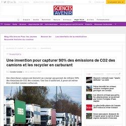 Cette capsule capte puis recycle le CO2 émis par les camions