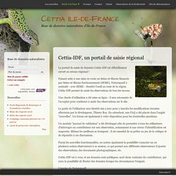 Cettia-IDF, un portail de saisie régional