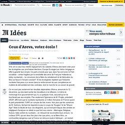 Ceux d'Areva, votez écolo !
