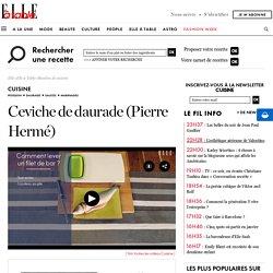 Ceviche de daurade (Pierre Hermé) pour 10 personnes
