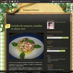 Ceviche de saumon, menthe et citron vert - Emma.cuisine