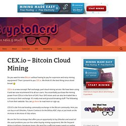 cloud mining with cex.io