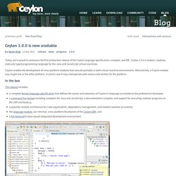 Ceylon: Ceylon 1.0.0 is now available