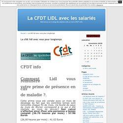 La cfdt lidl avec vous pour longtemps « La CFDT LIDL avec les salariés